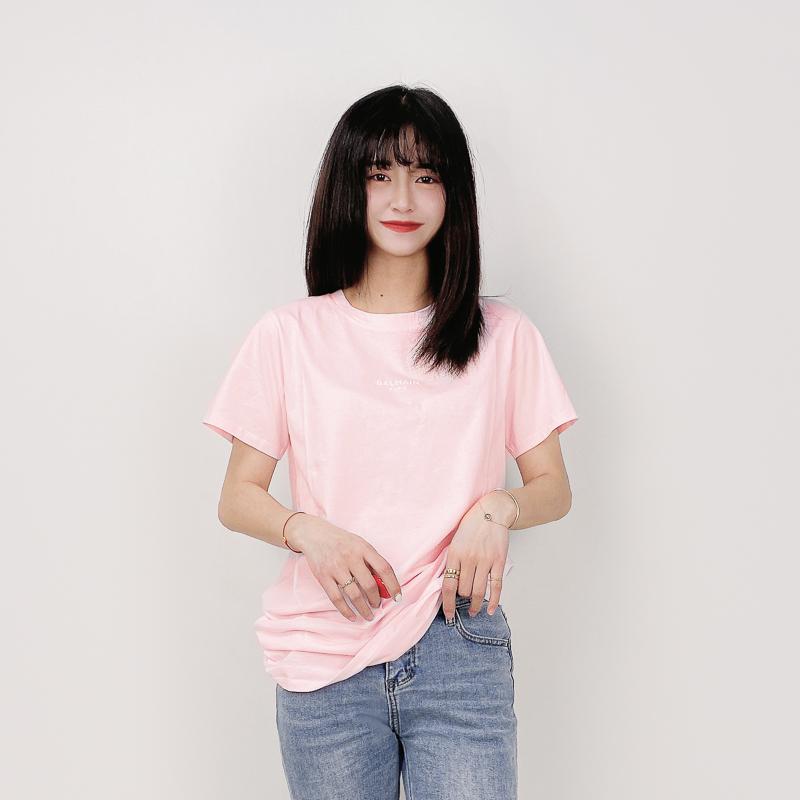 BALMAIN童裝春夏新款 經典字母LOGO印花圓領純棉短袖T恤上衣