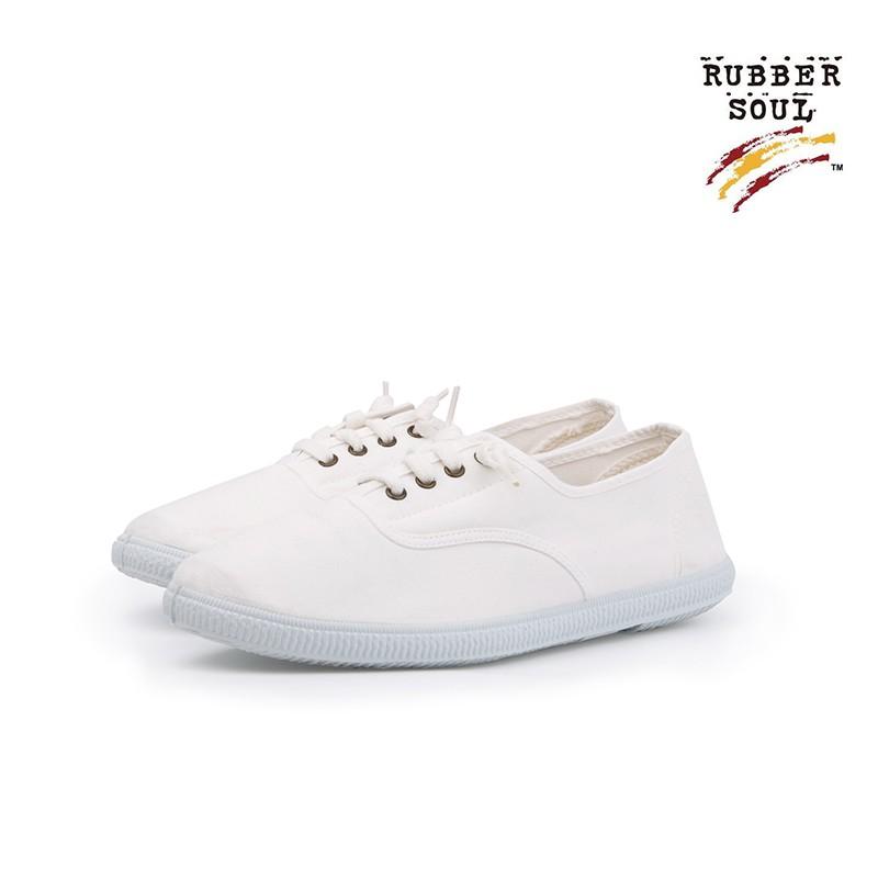 【C.P.U.】Rubber Soul西班牙輕巧時尚百搭文青帆布鞋-經典白
