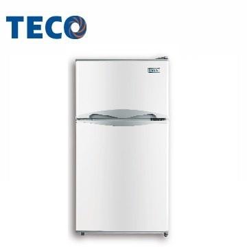 【奇龍網3C數位商城】TECO 東元 【R1001W】100公升雙門冰箱(白色)*另R1303W