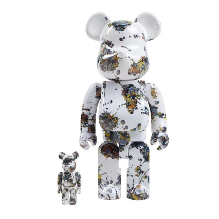 BE@RBRICK Bearbrick Jackson Pollock Studio潑墨 3代 400%+100%