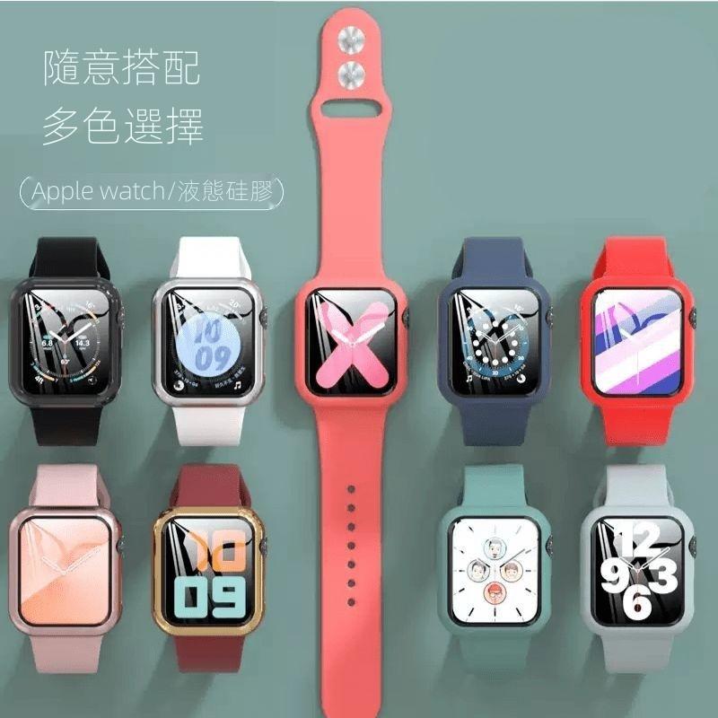 超薄套裝通用雙色動手錶帶矽膠套iwatch23watch花44項鍊4水鑽42單排女神配件iwatch4鍍金Applewa