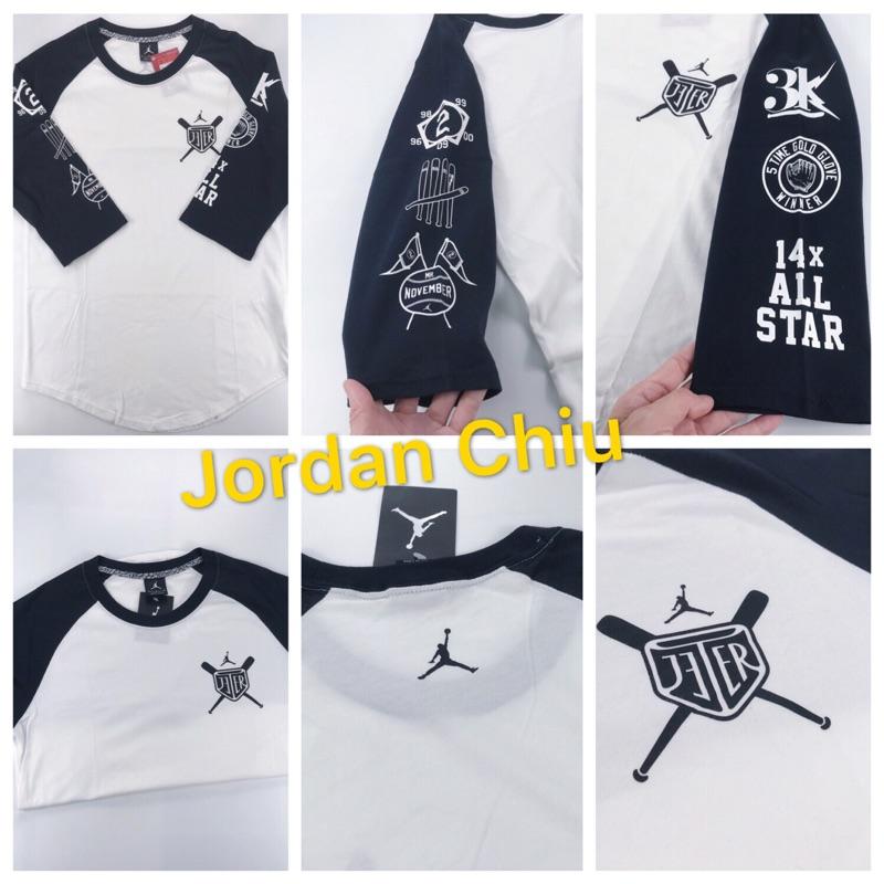 全新台灣公司貨 Air Jordan x Jeter 基特 棒球 七分袖