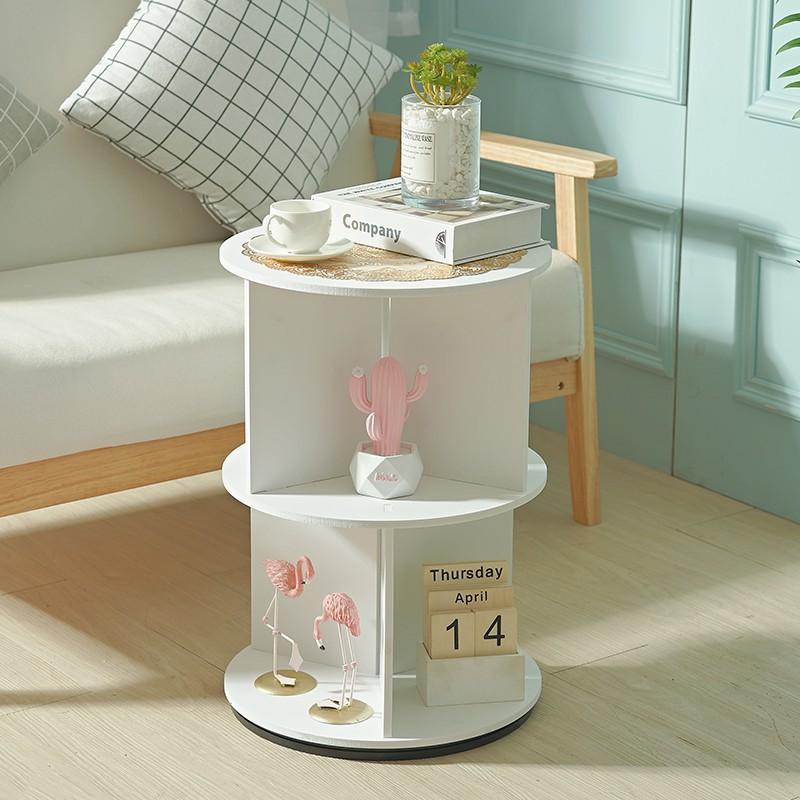 【新品】沙發邊幾北歐小茶幾客廳小圓桌簡約移動邊桌小桌子茶幾收納置物架 歐雅家具