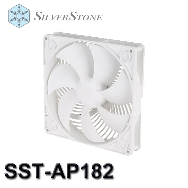 【3CTOWN】含稅 SilverStone 銀欣 SST-AP182 AP182 白色 穿甲彈風扇 18cm雙滾珠軸承