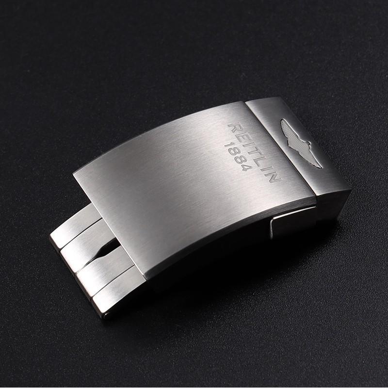 精品熱賣  陌黛爾代用Breitling百年靈表扣原裝尼龍硅膠橡膠帶折疊扣 男20mm