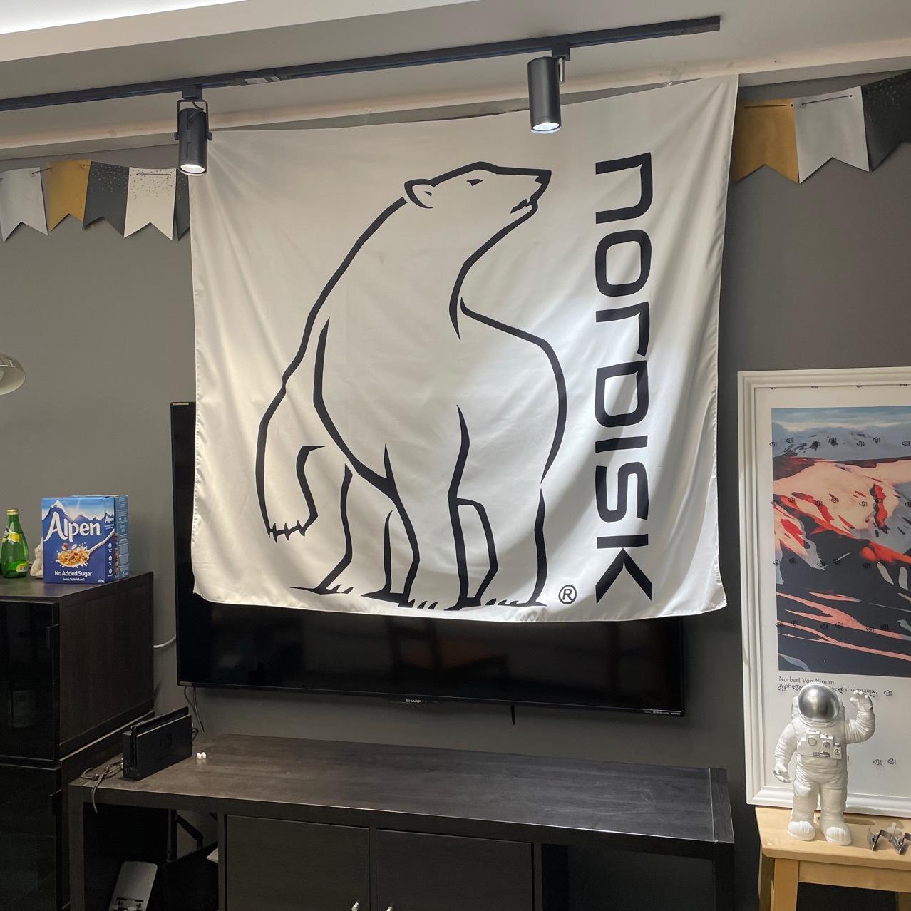 Nordisk戶外掛布掛毯 露營掛布 帳篷掛布掛毯裝飾布  北極熊 130*150