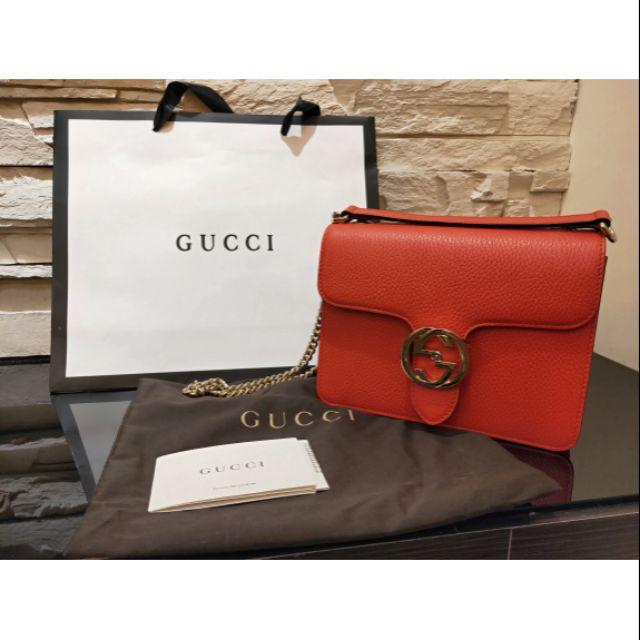 Gucci 風琴包 (愛馬仕橘)