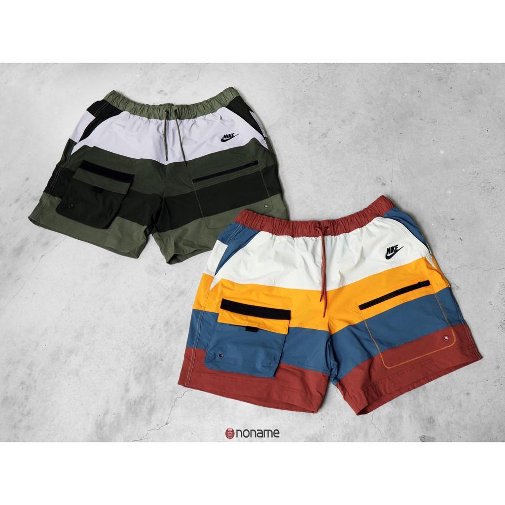 ⭐️NoName⭐️ Nike NSW Pocket Logo 復古 工裝 拼接 口袋 海灘褲 短褲 (男生)