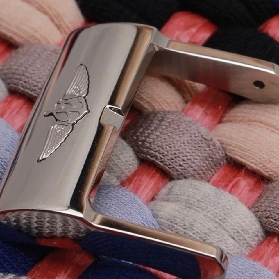 ㊣♠Breitling百年靈 表扣 代用表扣配件亮光銀表扣針扣 尺寸20mm33862