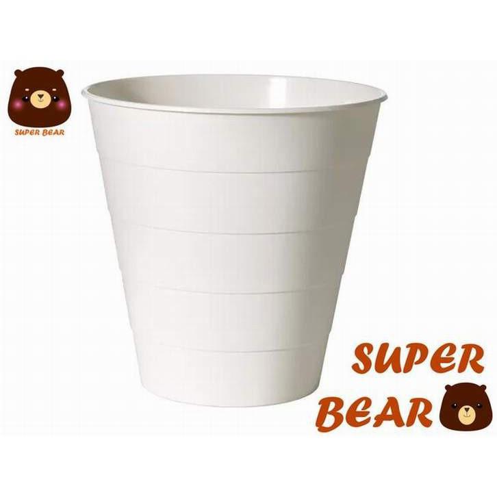 垃圾桶/白色/FNISS/IKEA (超人百貨)