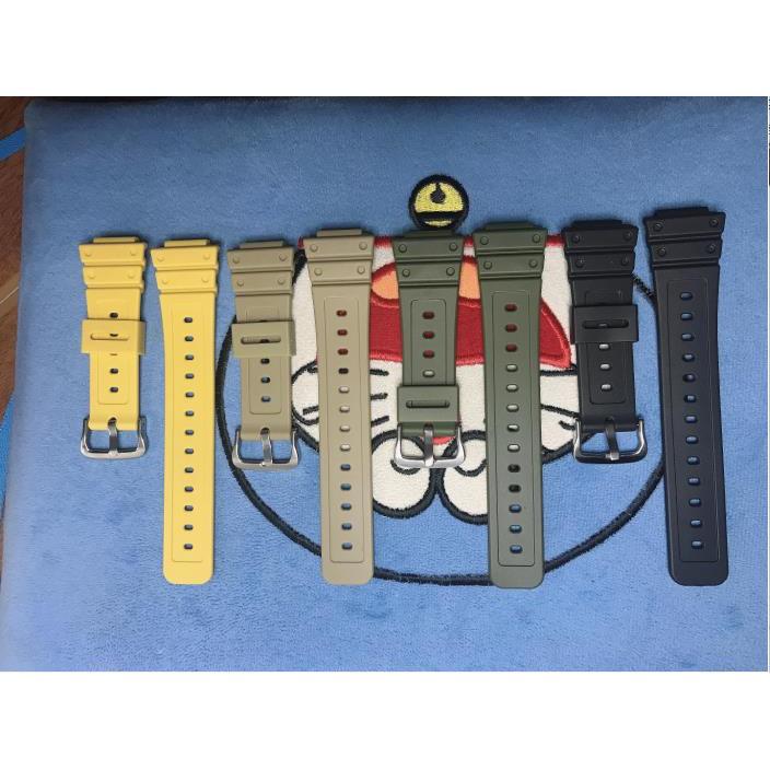 卡西歐G-SHOCK DW-5600\/GWM5610膠帶樹脂表帶ga2100表帶改裝配件