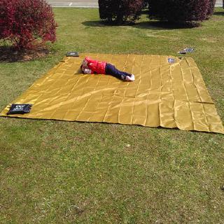 ☤✘☒地墊 天幕 300cm*300cm 3*3地布 防水防潮 塗銀膠 遮陽 野餐墊 炊事帳 露營戶外帳篷