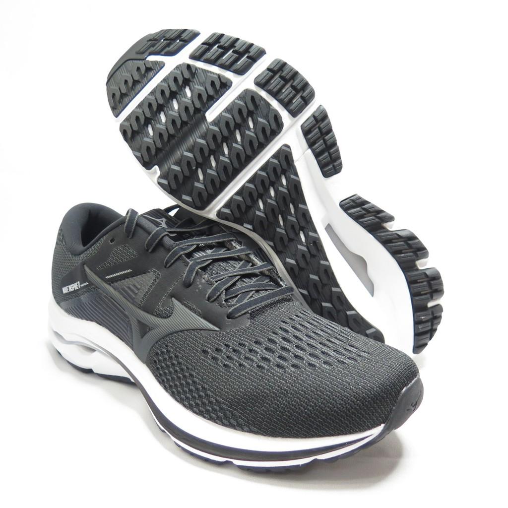 Mizuno WAVE INSPIRE 17 男款 慢跑鞋 4E楦 J1GC214534 黑白 大尺碼【iSport】