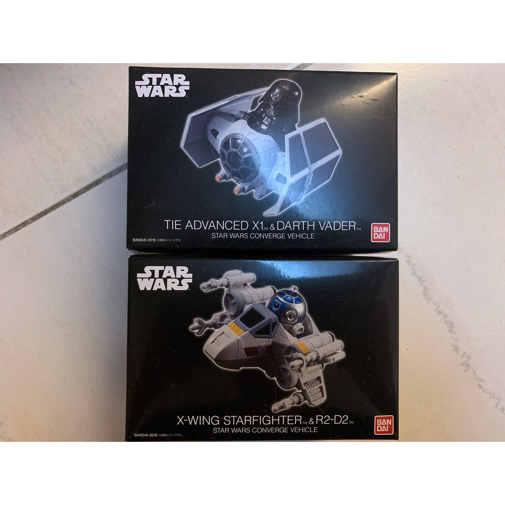 全新 BANDAI STAR WARS CONVERGE VEHICLE 星際大戰 R2-D2 X戰機 黑武士 鈦戰機
