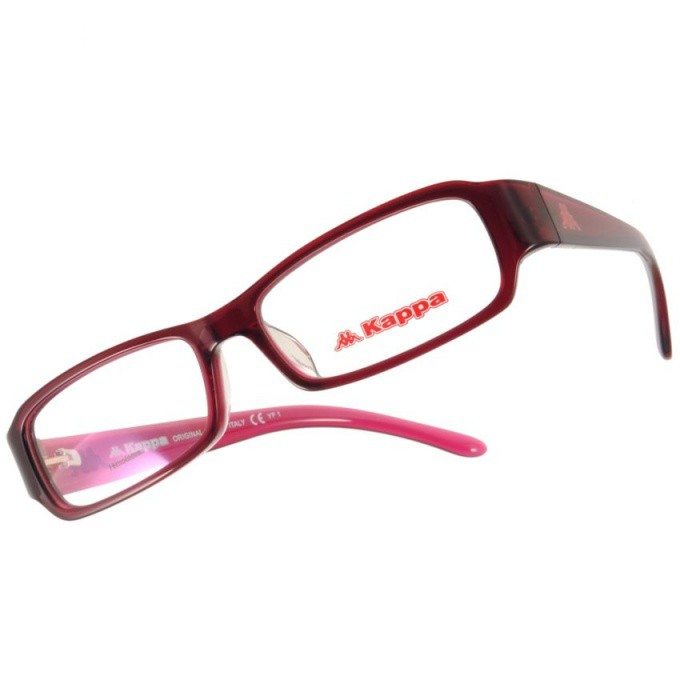 KAPPA 光學眼鏡 KP1025 RD 簡約經典LOGO小方框款-金橘眼鏡