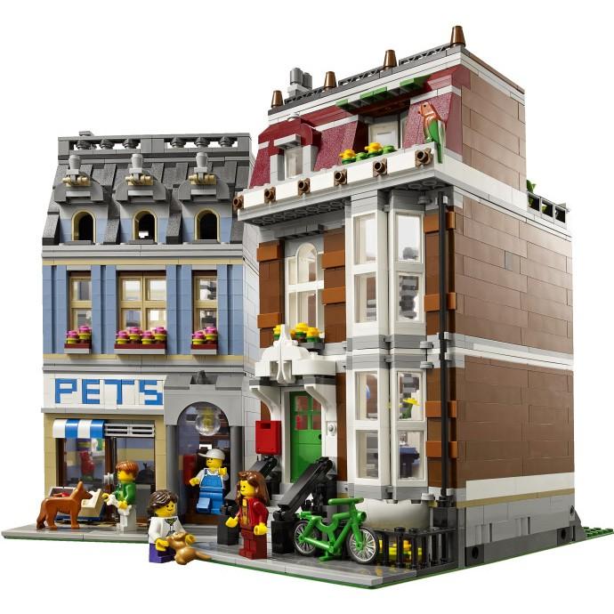 LEGO樂高10218街景建筑寵物店商店拼裝積木益智智力玩具禮物收藏