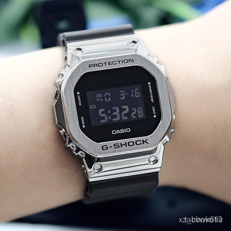 開學季新款速遞新款卡西歐G-SHOCK GM-5600-1/B-1/3/S5600/G-7/PG-4電子運動男腕手錶 l