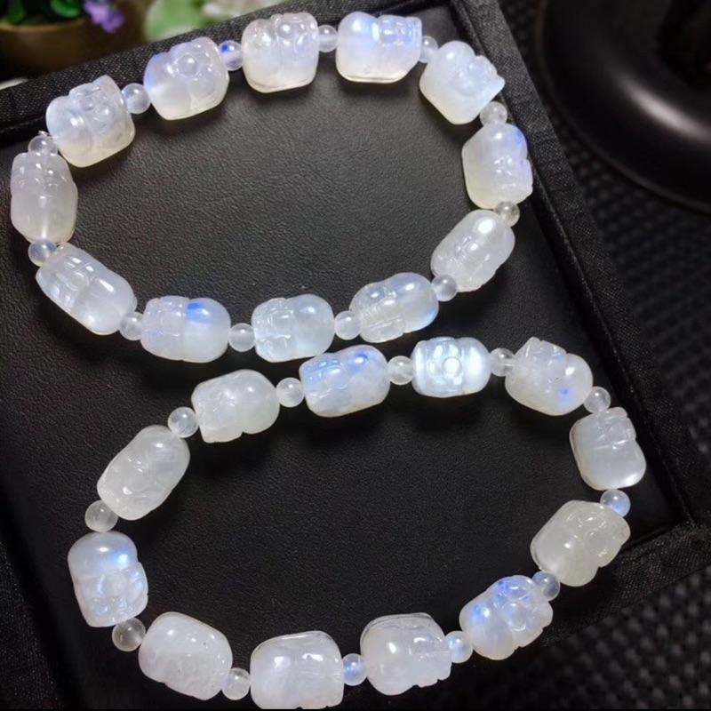 奶油體 藍月光石 貔貅 手珠 手鍊 10mm左右 超值優惠價一條只要2000元