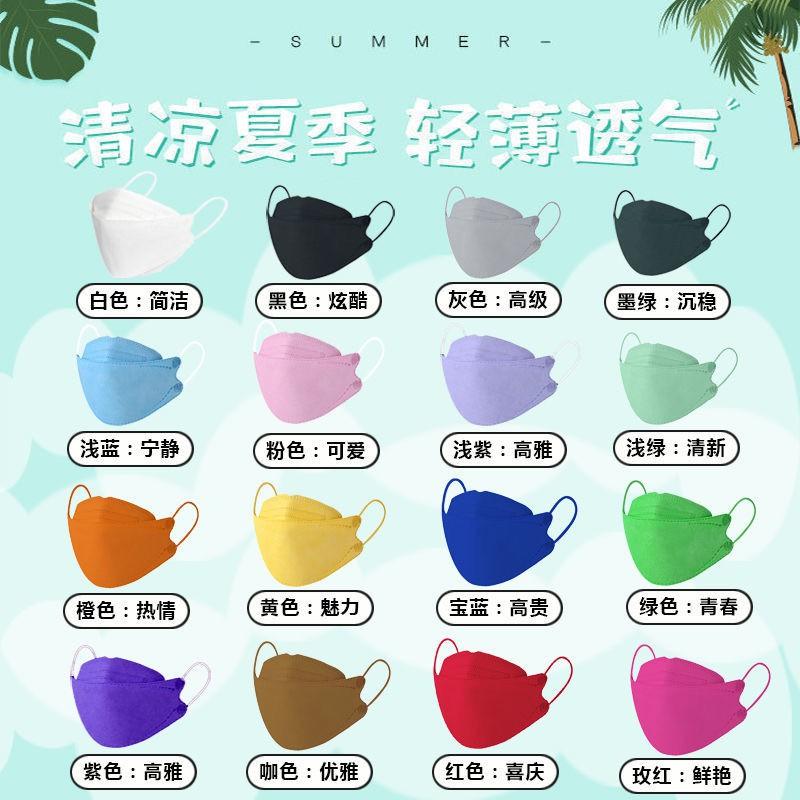 韓版KF94口罩   魚口 抹茶綠色  3D立體  四層 立體口罩   KF94口罩 成人 防塵 【快速出貨】