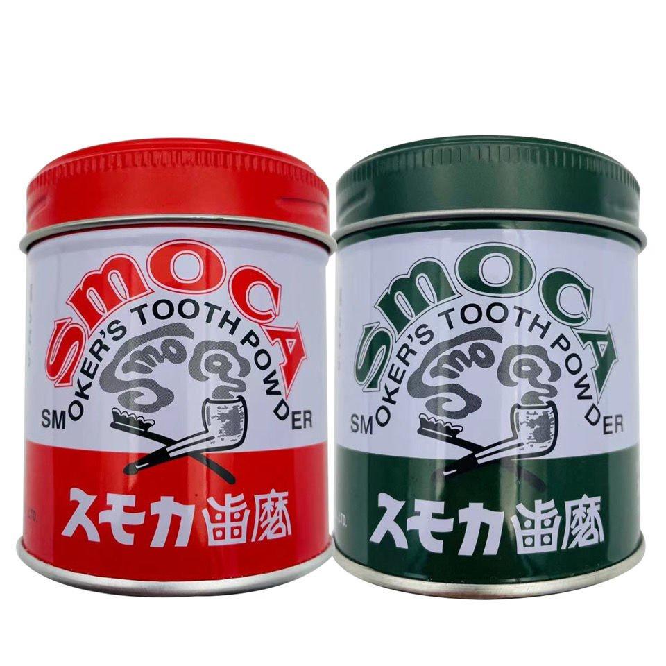 【限時特賣】日本原裝進口SMOCA牙膏洗牙粉去黃美白亮白牙漬結石煙茶漬 155g 日韓代購