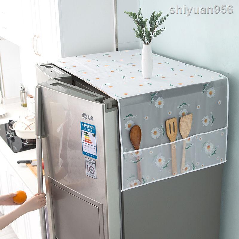現貨♨❡冰箱蓋布洗衣機罩單開雙開門滾筒式微波爐防灰收納袋式防油防塵罩