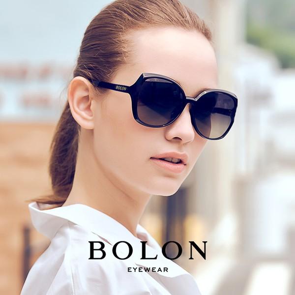 【BOLON 暴龍】顯瘦蝶形大矩方框太陽眼鏡 時尚流行款 BL5016