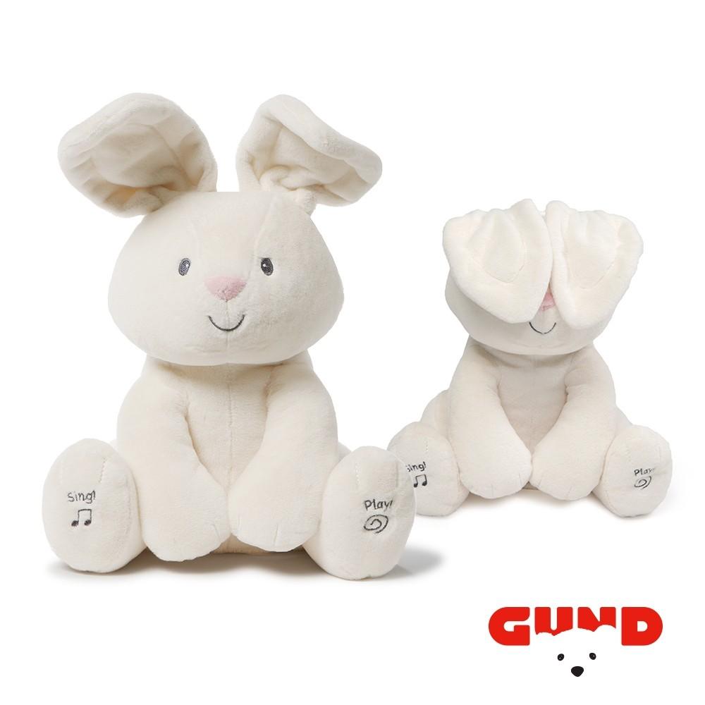 美國GUND 小兔躲貓貓音樂互動玩偶/安撫玩偶