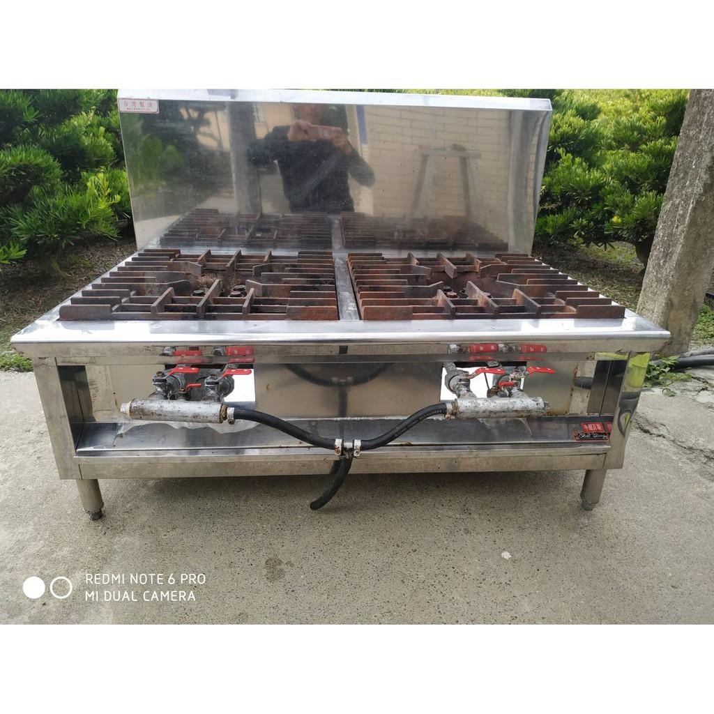 白鐵雙口爐台 炒台 快速爐  二手中古 餐飲設備 A1359-予新傢俱