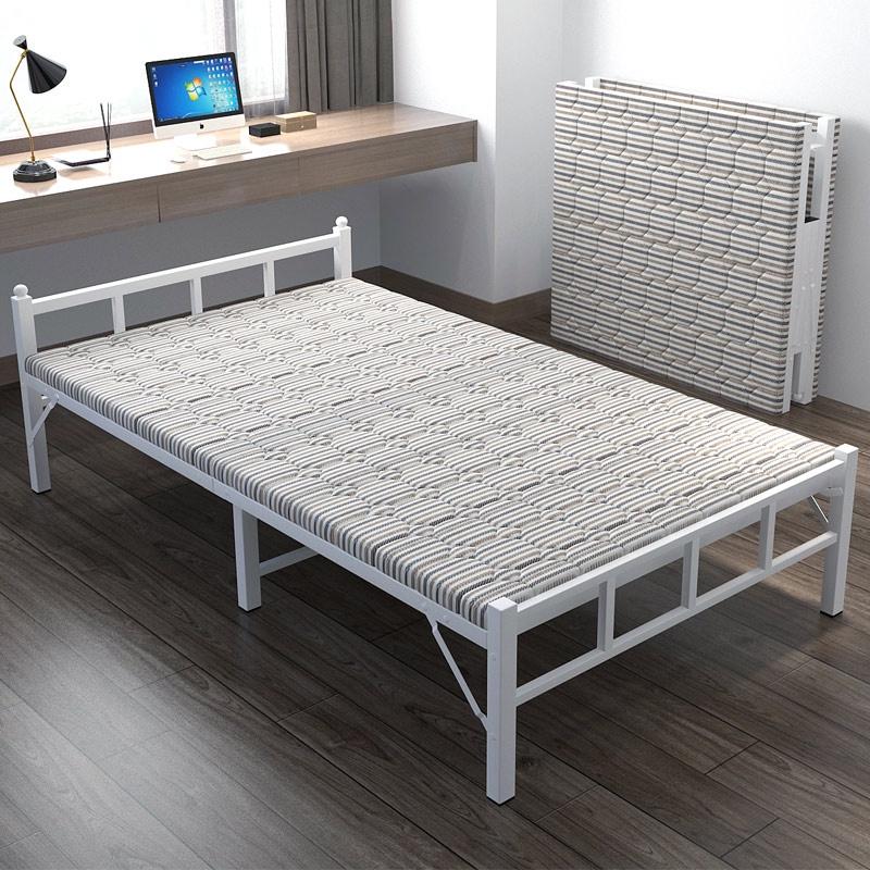 有貨/ 家具用品 折疊床單人家用簡易便攜出租房用1.2米午休床辦公室午睡雙人加固