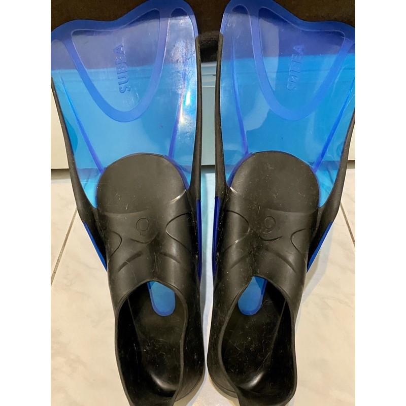 迪卡儂 浮潛 潛水 蛙鞋 防滑