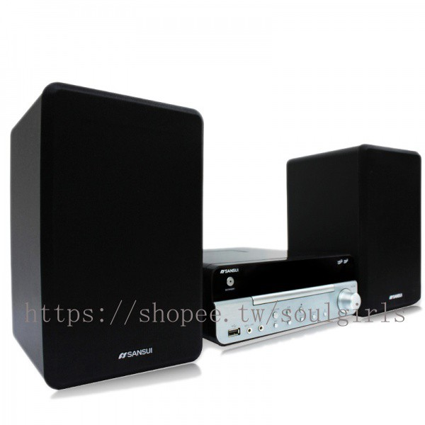 qNsG 日本山水SANSUI桌面迷你CD組合音響FM收音機藍牙USB播放器MC-1510
