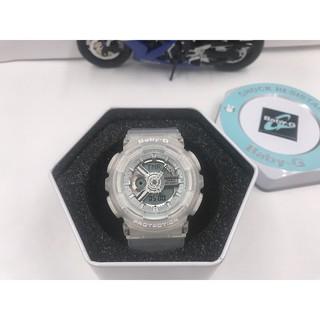 Casio 卡西歐 手錶 BABY-G BA-110 透明白 運動手錶 情侶對錶 數字指針雙顯手錶 女錶 高雄市