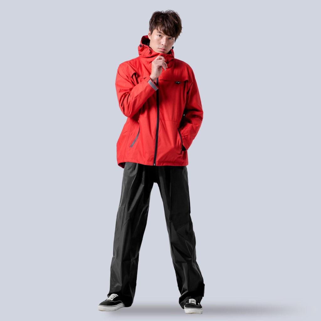 BrightDay 背MAX外套兩件式雨衣(搭配黑色尼龍雨褲) 紅 兩件式雨衣 雨衣《比帽王》