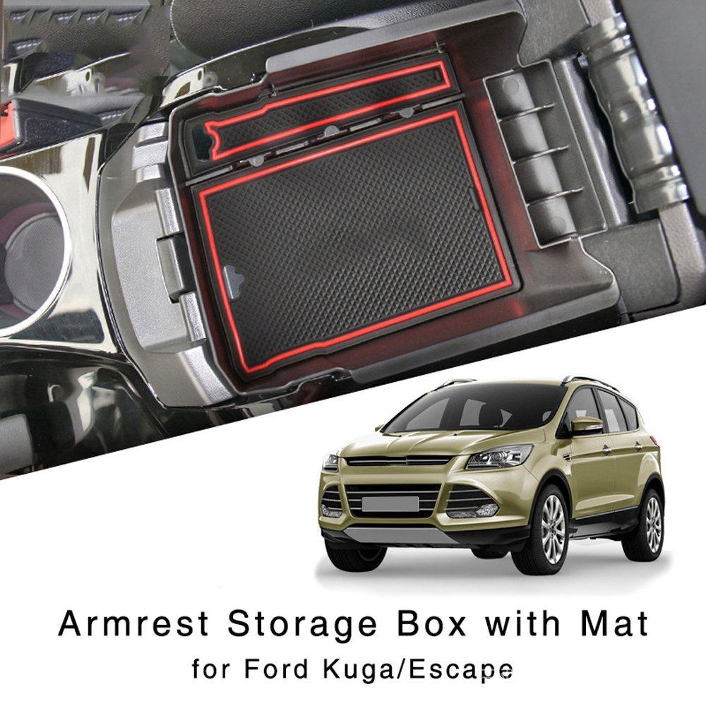 高性價比 Ford 福特 汽車專用置物盒 翼虎 Kuga Escape 13-15年 中控中央扶手箱收納收納盒 收納盒