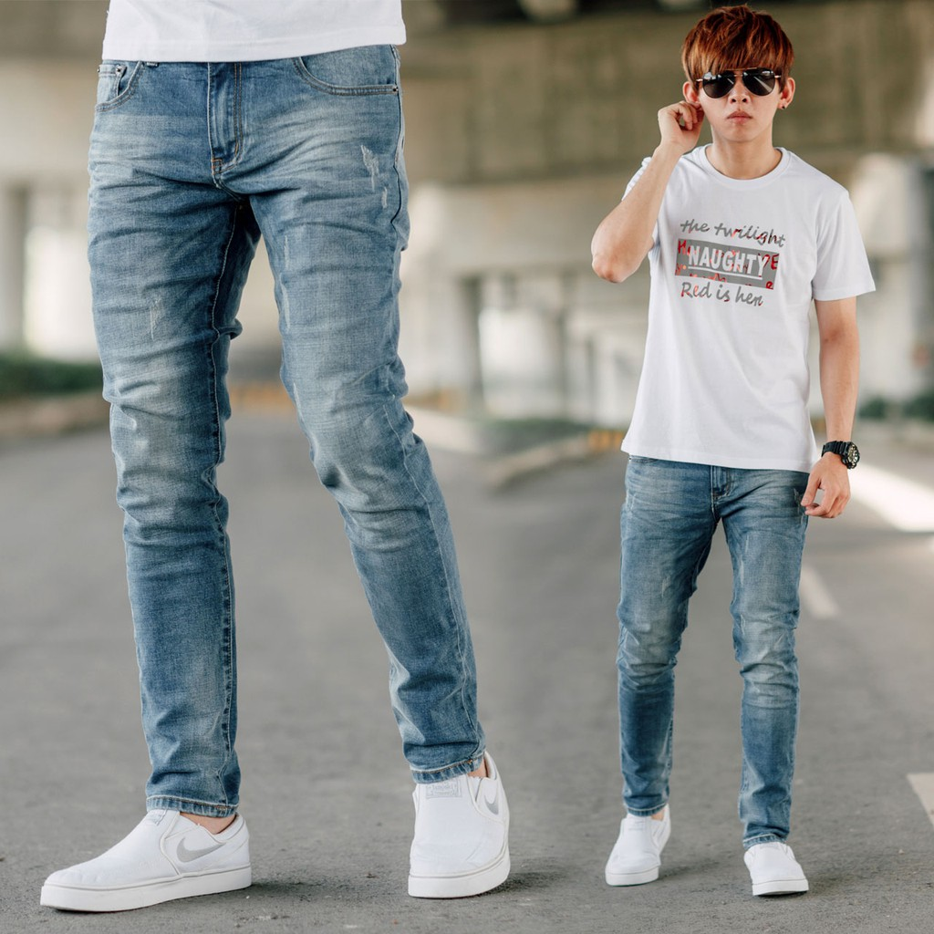 韓國製微刷色素面無破合身牛仔褲(LE-HB057) NB0821J 廠商直送 現貨