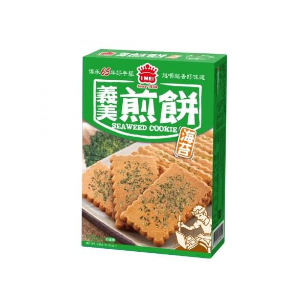 義美煎餅量販盒 海苔 231g/盒 【大潤發】