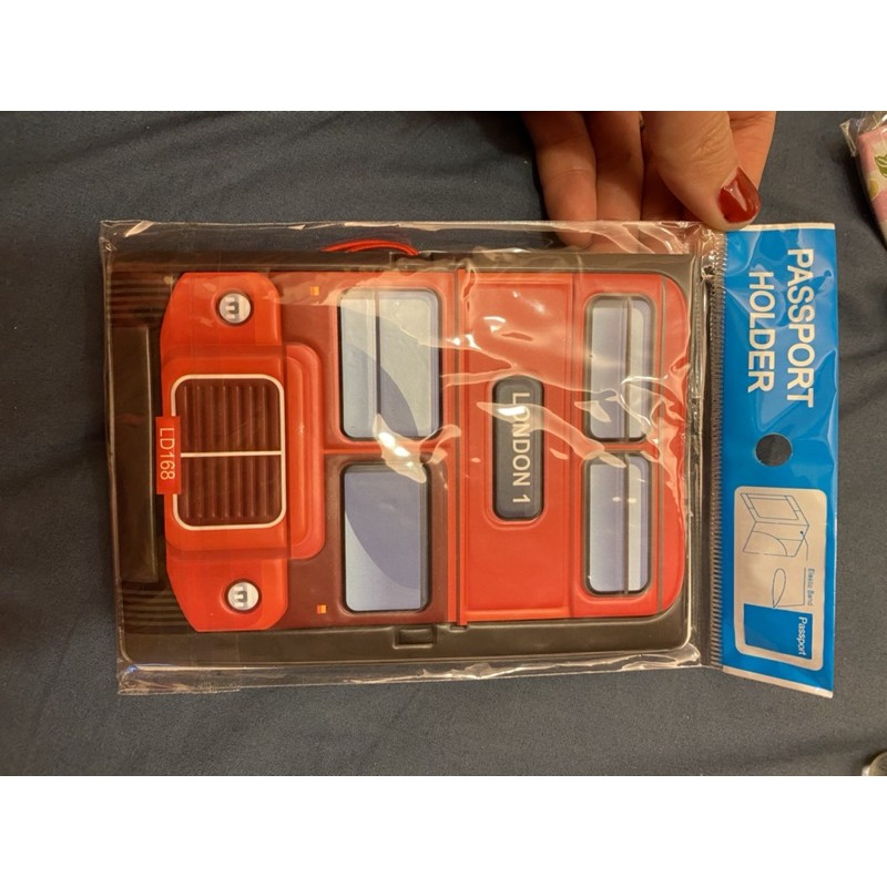 護照夾/雙層巴士造型護照套