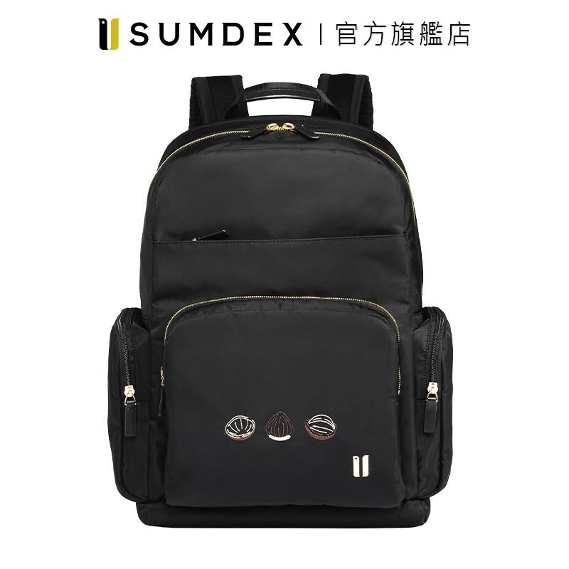 Sumdex|都會商務雙層電腦後背包(真果版) NON-776BK-HN 黑色 官方旗艦店