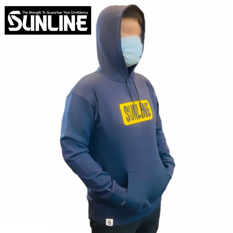 《SUNLINE》SUW-1811PK 藍色長袖連帽衫 中壢鴻海釣具館長袖帽T 釣魚休閒衣著