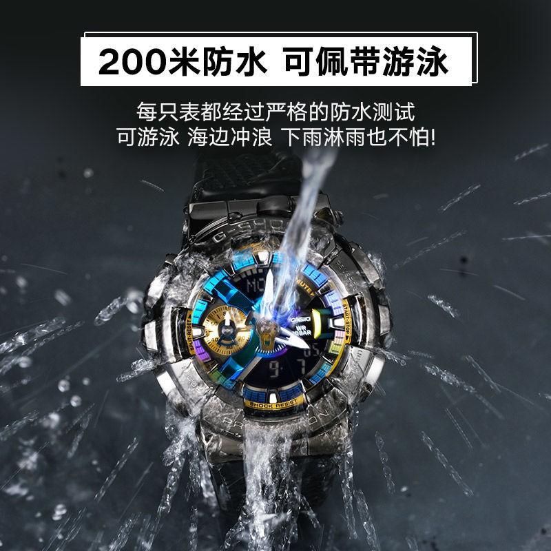 Casio卡西歐G-SHOCK小鋼炮THE9-劉雨昕同款運動男女表GM-110B-1A