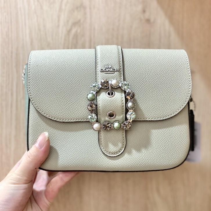 免運✨台灣現貨✨美國🇺🇸Coach 公主 Disney 迪士尼 公主 珍珠 鑽石💎Gemma 鏈條 斜背 側背 寶石包