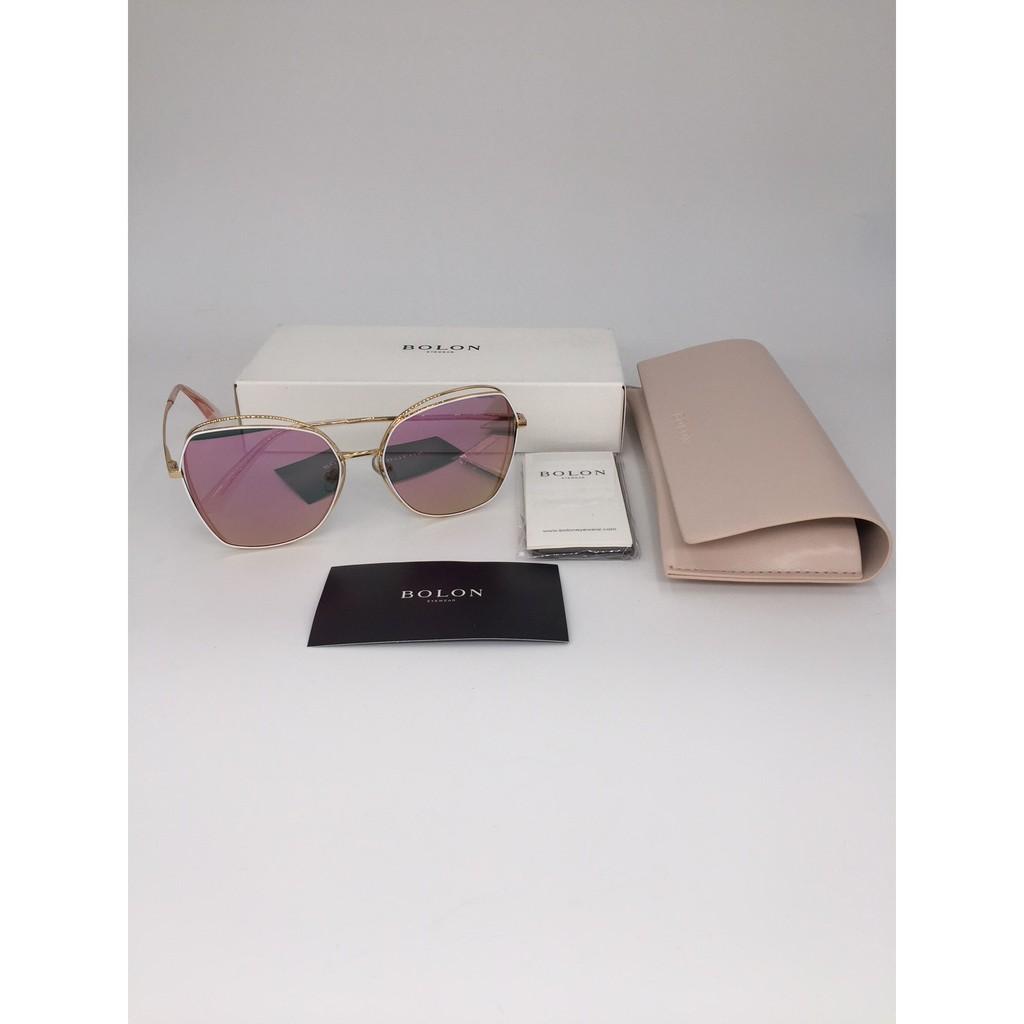 玩美女孩 本周新品 暴龍直發墨鏡新品潮 安海瑟薇款 大框優雅 偏光女太陽眼鏡 BL7011-粉色
