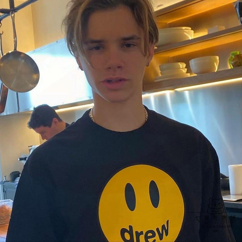 代購 代購DrewHouse Drew House短袖T恤正品男女笑臉logo賈斯汀比伯tee