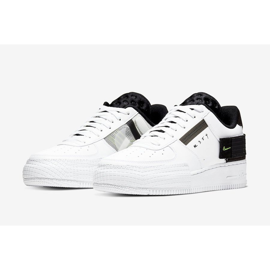 Nike Air Force 1 type 休閒鞋 AF-1 白黑 AT7859-101