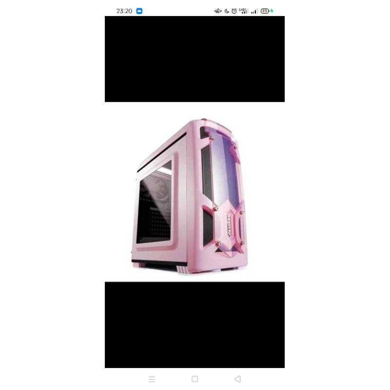 全新 極光刃粉色機殼 壓克力側透 電腦機殼 電腦機箱