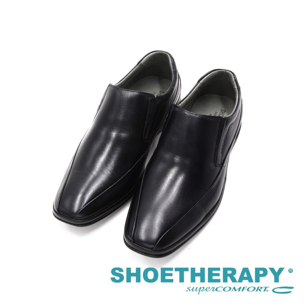 SAPATOTERAPIA巴西雙線方頭直套皮鞋 男鞋-黑