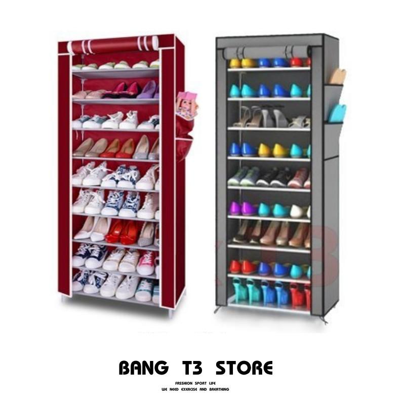 BANG 鞋櫃 十層鞋架 多功能鞋架 布套防塵 收納架 組合鞋櫃 置物架儲物櫃 鞋架 組合式【H47】