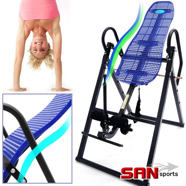 S曲線折疊倒立機C182-11EL無重力迴轉式倒立器科技倒立椅倒吊椅拉筋機拉筋板駝背剋星脊椎伸展機美背機牽引機倒立的好處