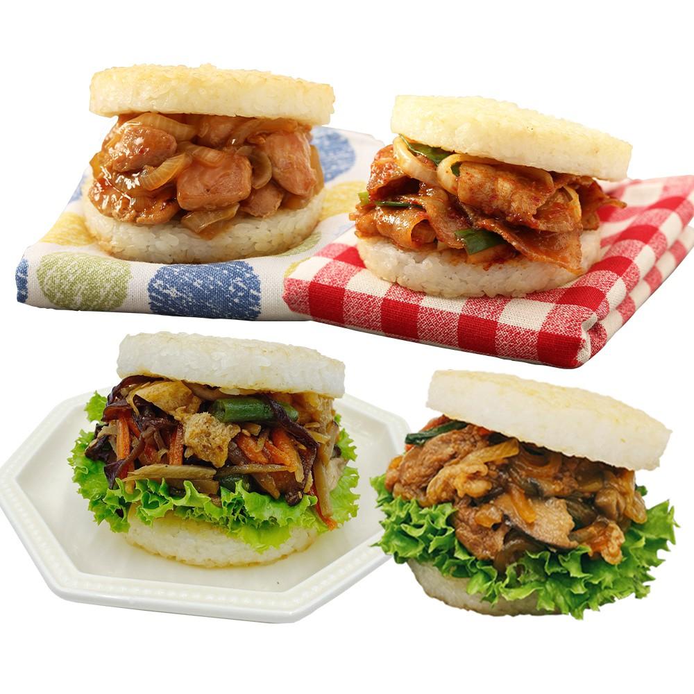 【MOS摩斯漢堡】網路獨家米漢堡-醬燒牛/韓式豬/甜燒雞/綜合彩蔬(非全素)(6入/盒)居家防疫