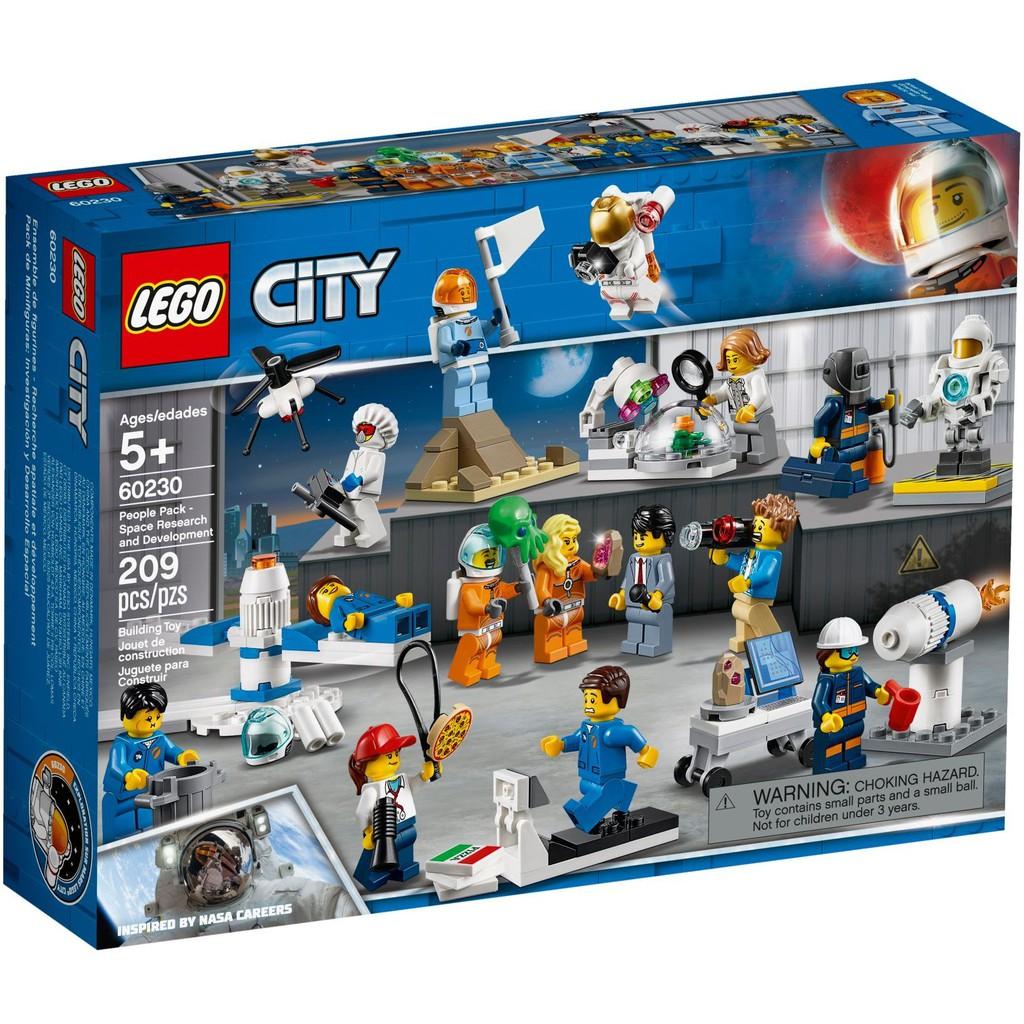 【台中翔智積木】LEGO 樂高 CITY 城市系列 60230 人偶套裝 – 太空研究與開發
